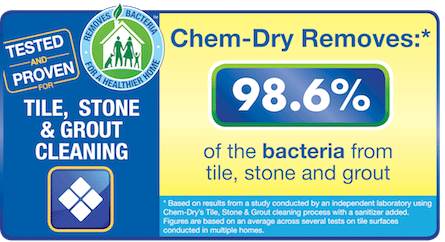 Ivy Green Chem-Dry removes 98.6% from tile, stone and grout in Corona CA