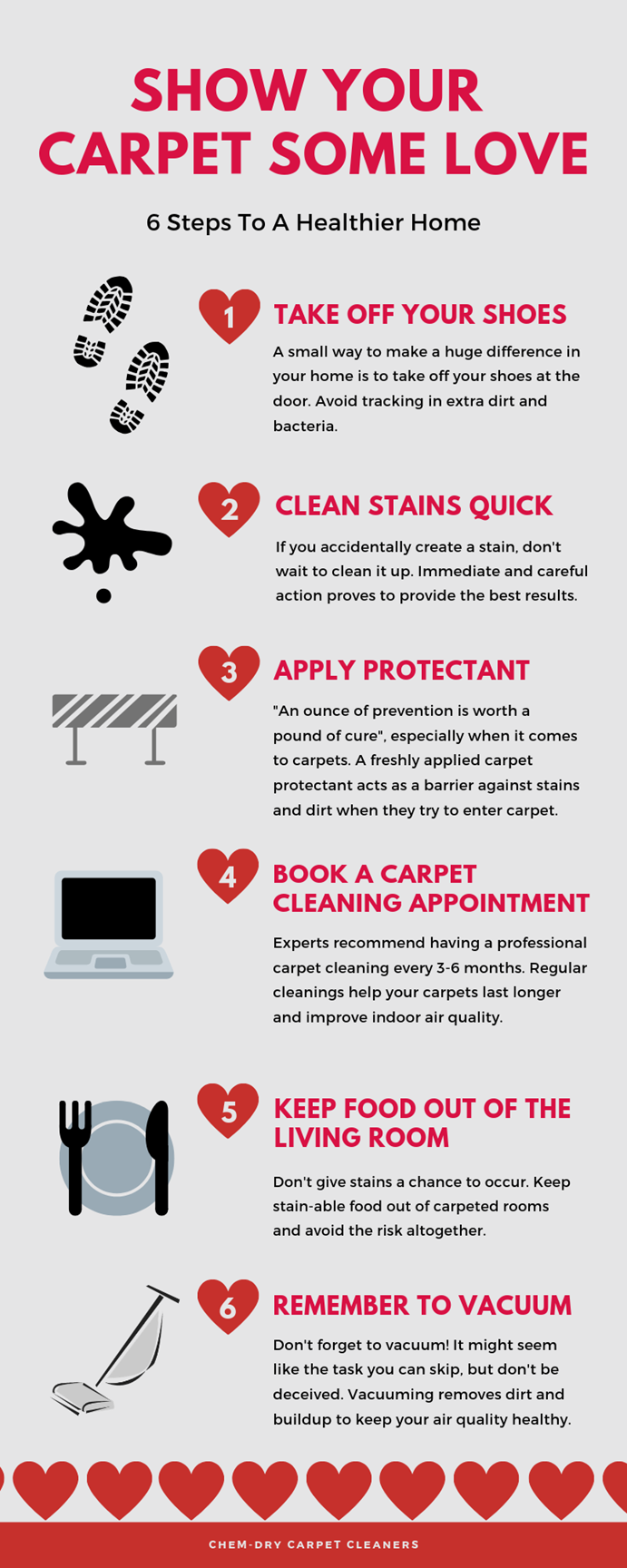 carpet cleaning in Corona CA keep your carpet cleaner with 6 quick tips